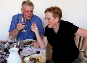 Bonnie & Leon at our French Cheese & Wine Tasting