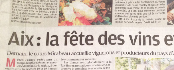 Wine in Provence in the News